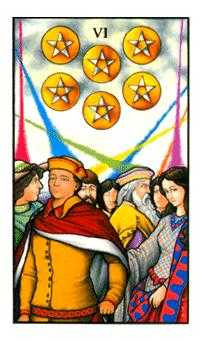 Six of Pentacles Tarot Card - Connolly Tarot Deck
