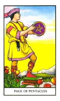 Page of Discs Tarot Card - Connolly Tarot Deck