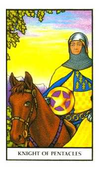 Knight of Coins Tarot Card - Connolly Tarot Deck