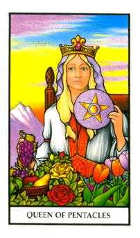 Queen of Coins Tarot Card - Connolly Tarot Deck
