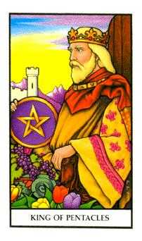 King of Diamonds Tarot Card - Connolly Tarot Deck