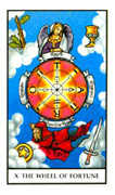 Wheel of Fortune Tarot card in Connolly deck