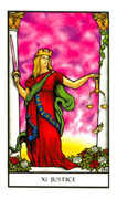 Justice Tarot card in Connolly deck