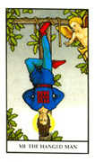 The Hanged Man Tarot card in Connolly deck