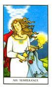 Temperance Tarot card in Connolly deck