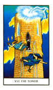 The Tower Tarot card in Connolly deck