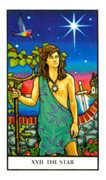 The Star Tarot card in Connolly deck