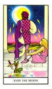 The Moon Tarot card in Connolly deck