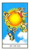 The Sun Tarot card in Connolly deck