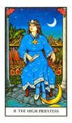 The High Priestess Tarot card in Connolly deck