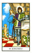 Judgement Tarot card in Connolly deck