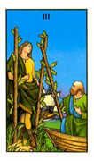 Three of Wands Tarot card in Connolly deck