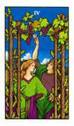 Four of Wands Tarot card in Connolly deck