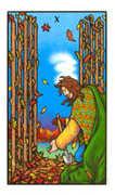 Ten of Wands Tarot card in Connolly deck