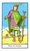 Page of Wands Tarot card in Connolly deck