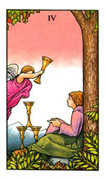 Four of Cups Tarot card in Connolly deck