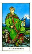 The Emperor Tarot card in Connolly deck