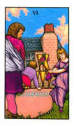 Six of Cups Tarot card in Connolly deck