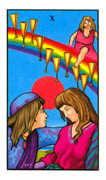Ten of Cups Tarot card in Connolly Tarot deck