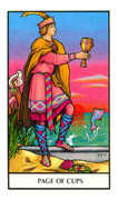 Page of Cups Tarot card in Connolly Tarot deck