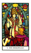 The Hierophant Tarot card in Connolly deck