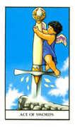 Ace of Swords Tarot card in Connolly deck
