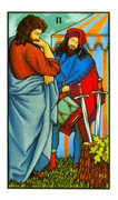 Two of Swords Tarot card in Connolly deck