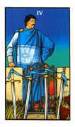 Four of Swords Tarot card in Connolly deck