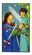 Five of Swords Tarot card in Connolly deck
