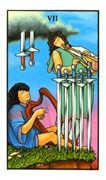 Seven of Swords Tarot card in Connolly deck