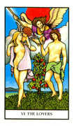 The Lovers Tarot card in Connolly deck