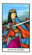 Queen of Swords Tarot card in Connolly deck