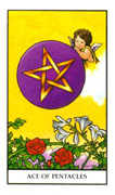 Ace of Pentacles Tarot card in Connolly deck
