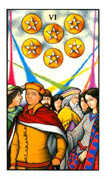 Six of Pentacles Tarot card in Connolly deck