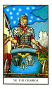 The Chariot Tarot card in Connolly deck