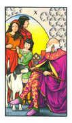 Ten of Pentacles Tarot card in Connolly deck
