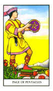 Page of Pentacles Tarot card in Connolly deck