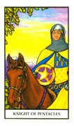 Knight of Pentacles Tarot card in Connolly deck