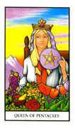 Queen of Pentacles Tarot card in Connolly deck