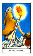 The Hermit Tarot card in Connolly deck