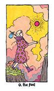 The Fool Tarot card in Cosmic Slumber deck
