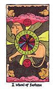 Wheel of Fortune Tarot card in Cosmic Slumber deck