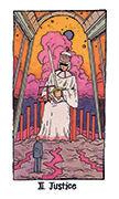 Justice Tarot card in Cosmic Slumber deck