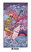 Death Tarot card in Cosmic Slumber deck