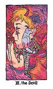 The Devil Tarot card in Cosmic Slumber deck