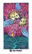 The Tower Tarot card in Cosmic Slumber deck