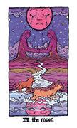 The Moon Tarot card in Cosmic Slumber deck