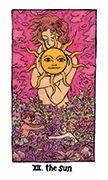 The Sun Tarot card in Cosmic Slumber deck
