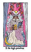 The High Priestess Tarot card in Cosmic Slumber deck