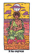 The Empress Tarot card in Cosmic Slumber deck